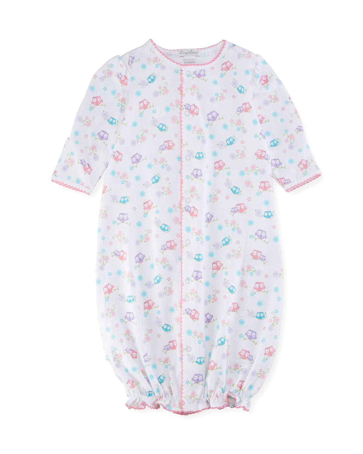 Kissy Kissy What A Hoot Convertible Pima Sleep Gown, Size Newborn ...