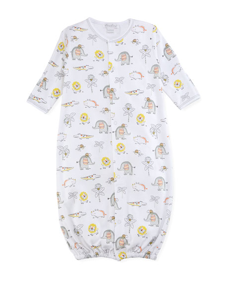 Kissy Kissy Jungle Jamboree Printed Convertible Pima Sleep