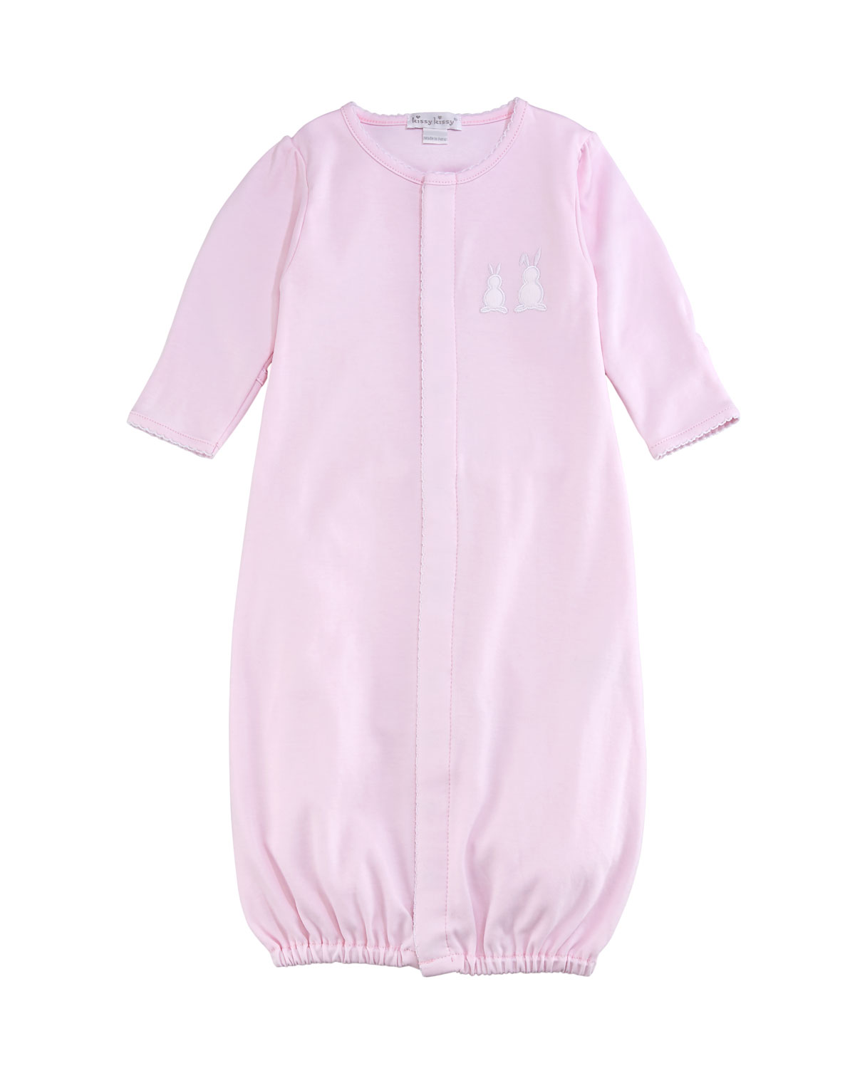 Kissy Kissy Pique Bunny Ears Convertible Pima Sleep Gown, Pink, Size ...