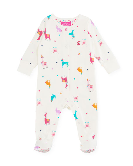 Razzmatazz Llama-Print Footie Pajamas, Size 0-9 Months