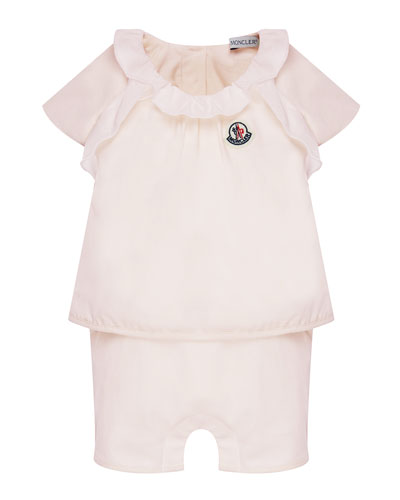 Cotton-Stretch Ruffle Top w/ Shorts, Size 6-24 Months