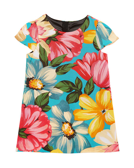 Chloe Floral-Print Dress, Size 8-14