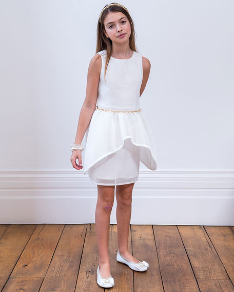 Sleeveless Peplum Dress, Size 8-16