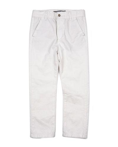 Cotton-Blend Beach Pants, Size 2-14