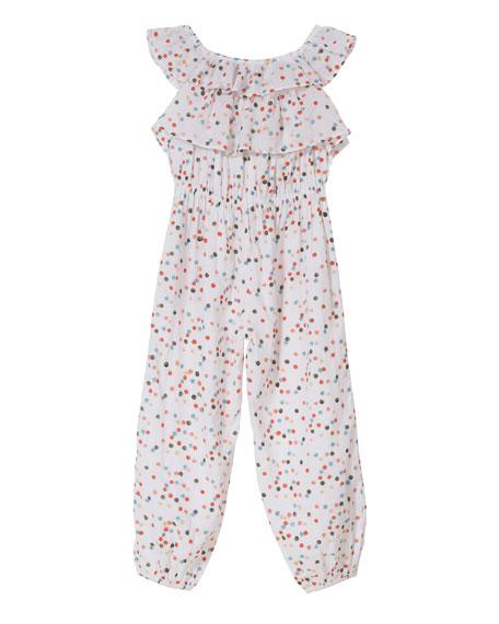 Layered Ruffle Frill Jumpsuit, Size 8