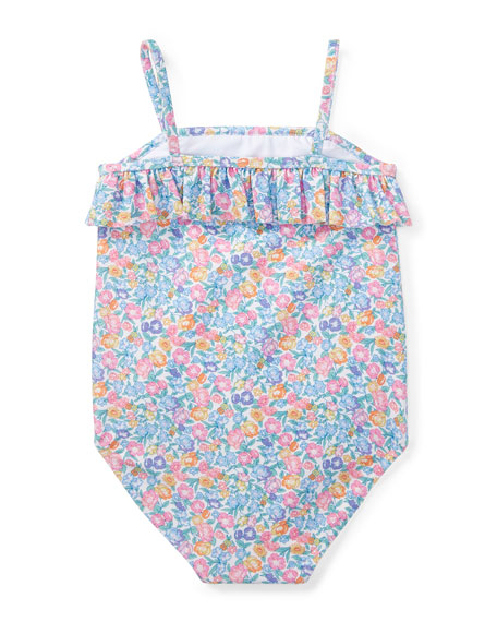 Floral-Print One-Piece Swimsuit, Size 9-24 Months