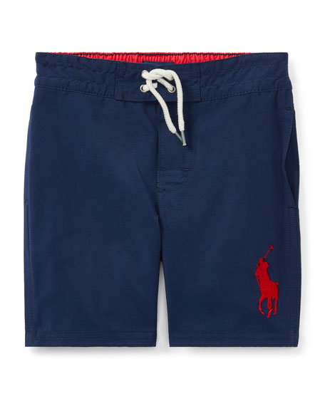 Ralph Lauren Childrenswear Sanibel Solid Board Shorts, Size
