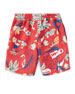 Image 2 of 2: Sanibel Tropical Board Shorts, Size 2-4T