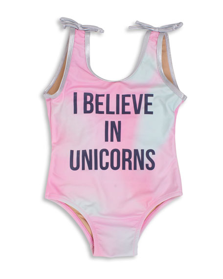 Unicorns Rainbow One-Piece Swimsuit, Size 6M-5