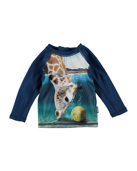 Nemo Giraffe Long-Sleeve Rash Guard, Size 3-24 Months