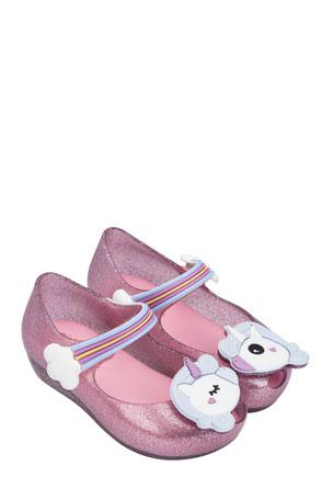 Mini Melissa Ultragirl Unicorn Mary Jane Flat, Toddler