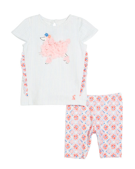 Joules Paula Poodle Top w/ Matching Leggings, Size