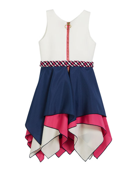 Piper Handkerchief-Hem Swing Dress, Size 4-6X