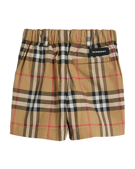 Sean Check Twill Shorts, Size 6M-3