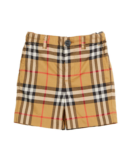 Sean Check Twill Shorts, Size 6M-3