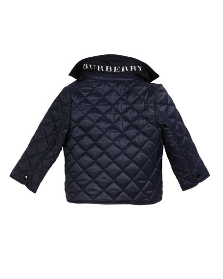 Lyle Quilted Snap Jacket, Size 6M-3