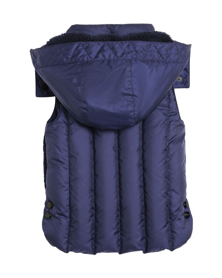 Armala Quilted Puffer Vest w/ Removable Hood, Size 4-14