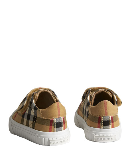 Beech Check Sneakers with White Sole, Infant/Toddler Sizes 3M-5T