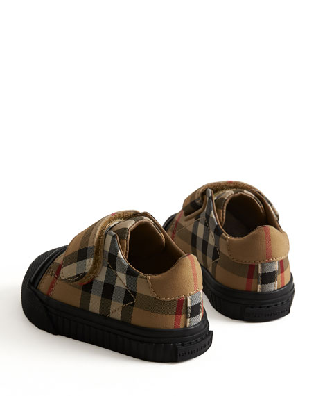 Beech Check Sneakers with Black Sole, Infant/Toddler Sizes 3M-5T