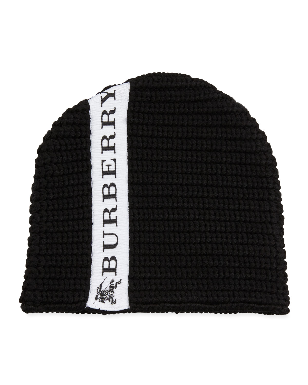 Burberry Kids  Knit Logo-Trim Wool Beanie Hat  49567b1ab6e