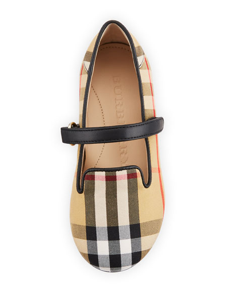 Ally Cotton Canvas Check Mary Jane, Toddler