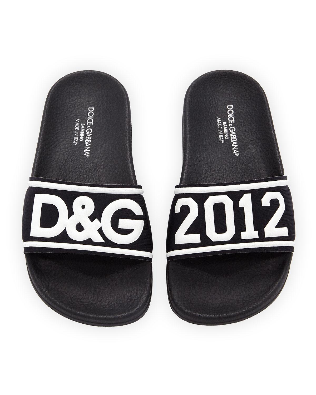 259340f7b1f7 Dolce   Gabbana Chiabatta D G 2012 Pool Slide Sandals