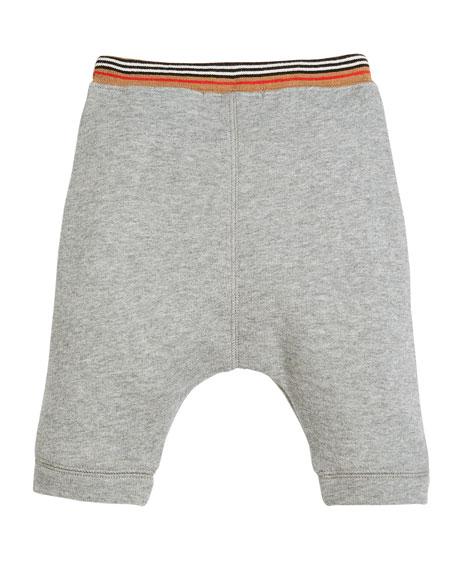 Andy Heathered Striped-Waist Sweatpants, Size 6M-3