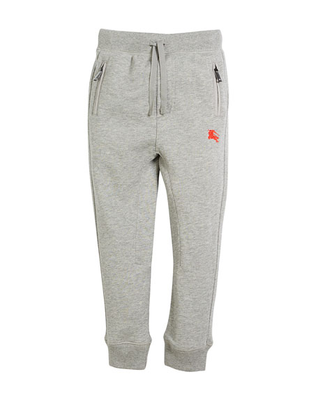 Burberry Phill Logo-Sides Sweatpants, Size 4-14