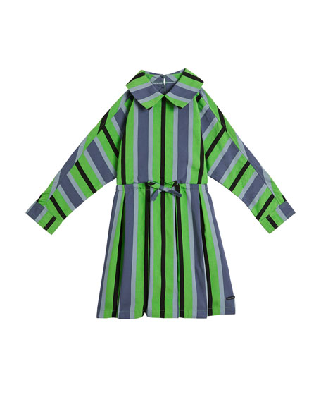 Crissida Long-Sleeve Striped Dress, Size 4-14