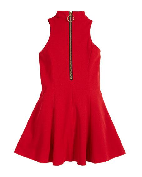 Cleo Crepe Knit Sleeveless Halter Dress, Size 7-16