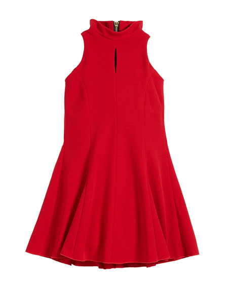 Zoe Cleo Crepe Knit Sleeveless Halter Dress, Size
