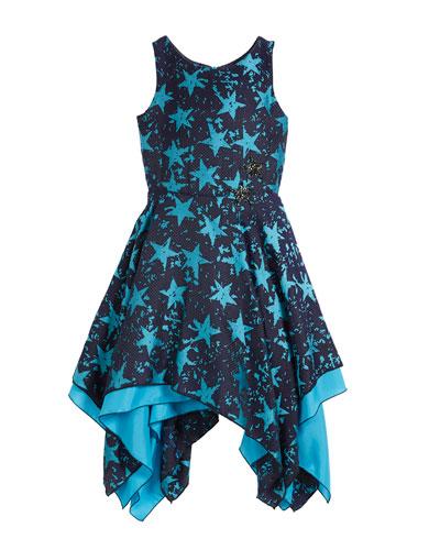 All Star Jacquard Sleeveless Dress, Size 7-16