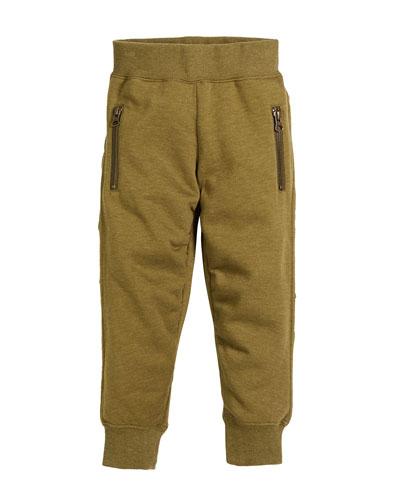 Aino Gathered-Sides Sweatpants, Size 4-12