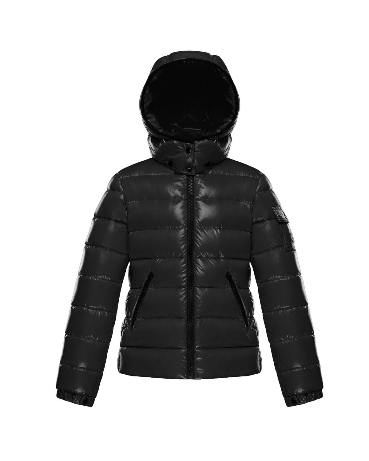 75865070f Bady Fitted Puffer Jacket, Black, Size 4-6