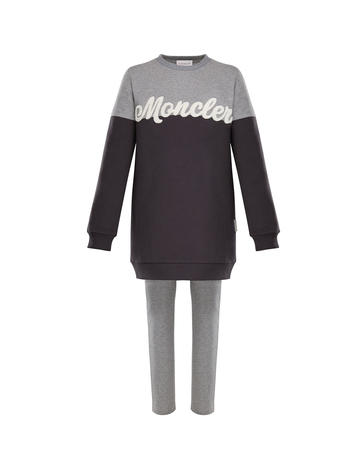 dda7e55723d39 Moncler Two-Tone Logo Sweater w/ Leggings, Size 4-6 and Matching ...