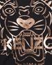 Kenzo Metallic Tiger Face Icon Long-Sleeve T-Shirt, Size 4-6