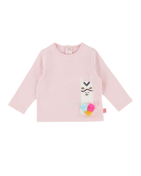 Long-Sleeve Llama T-Shirt, Size 2-3