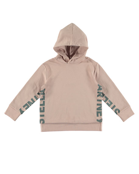 Logo Hooded Pullover Sweatshirt, Size 4-14