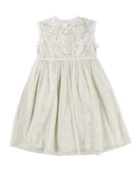 Billieblush Sequin & Tulle Sleeveless Dress, Size 2-8
