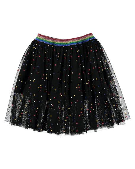 Dot Tulle A-Line Skirt, Size 4-14