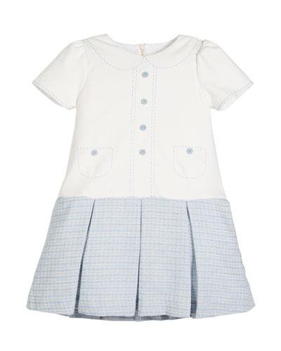 Drop-Waist Button Dress, Size 4-6X