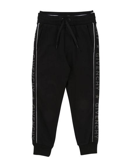 Jogging Pants w/ Logo Sides, Size 12-14