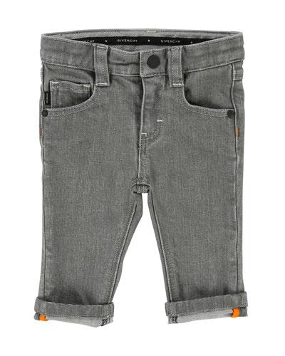 Straight-Leg Denim Pants, Size 12-18 Months