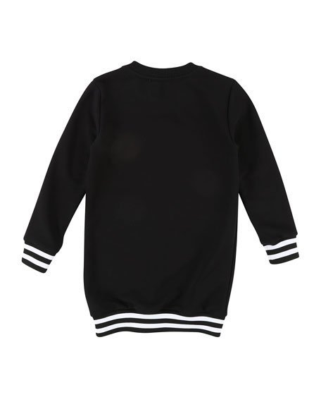 Long-Sleeve Logo Sweatshirt Dress, Size 4-5