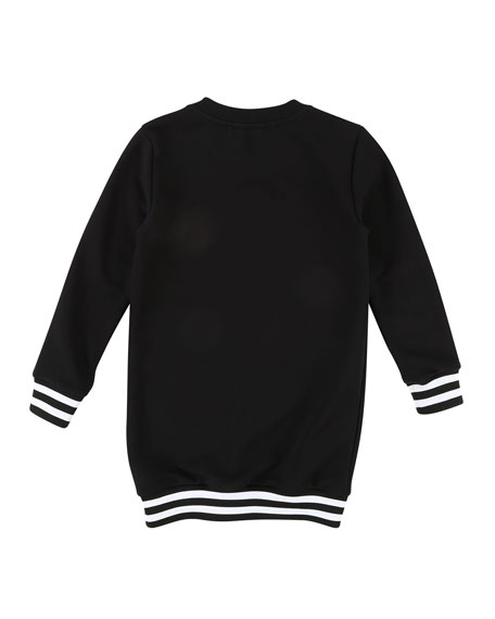 Long-Sleeve Logo Sweatshirt Dress, Size 12-14