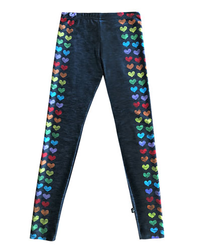 Love Is Love Heart-Print Leggings, Size 7-16