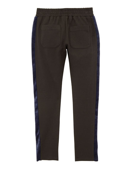 Girls' Kinsley Knit Trousers w/ Contrast Sides, Size S-L