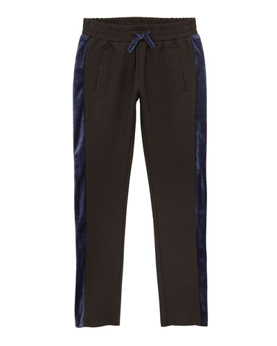 Kinsley Knit Trousers w/ Contrast Sides, Size S-L
