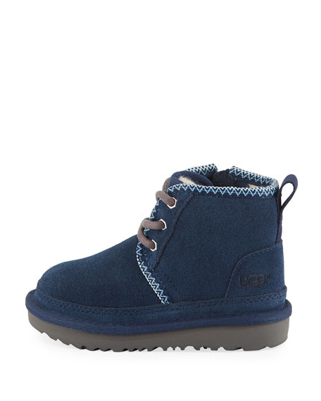 Neumel II Suede Lace-Up Boots, Toddler