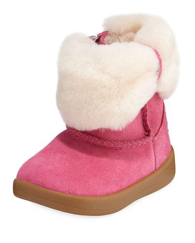 Ramona Suede Boot w/ Shearling Cuff  Baby